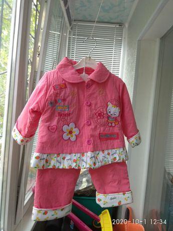 Новый осенний костюм на девочку от 1 до 2 лет