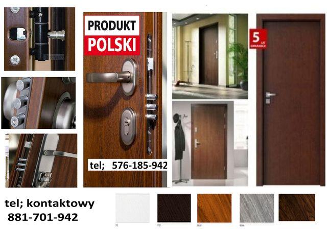 Tanie, POLSKIE drzwi zewnętrzne-klatkowe z MONTAŻEM, antywłamaniowe