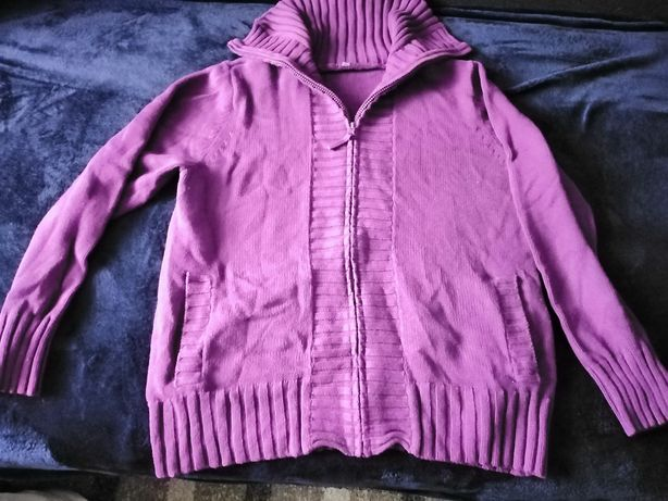 Fioletowy sweter r. 48 bdb bawełna