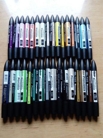 Promarkery zestaw 32 sztuki Winsor&Newton + Letraset