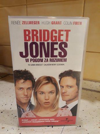 Kasety VHS z filmami z cyklu Bridget Jones
