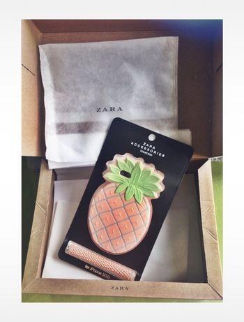 case etui obudowa iphone 4 4s ananas na telefon zara na łańcuszku