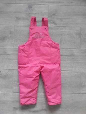 Spodnie zimowe narciarskie ocieplane dla dziewczynki
