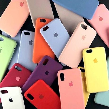 Чехол для iPhone 6/6(s)/Plus/7/8Plus,X,Xr,11 Silicone Case Кейс Чохол