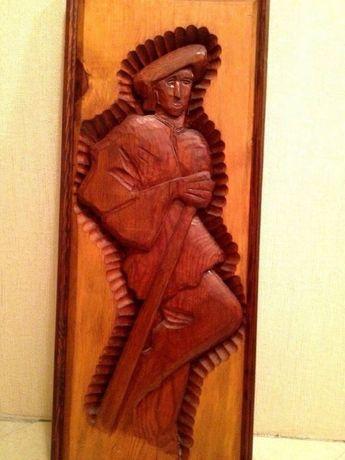 Картина, дерев'янна, різблена. Розмір 111*44*3,5