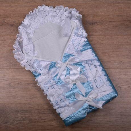 Новый конверт одеяло для новорожденного на выписку, на крестины