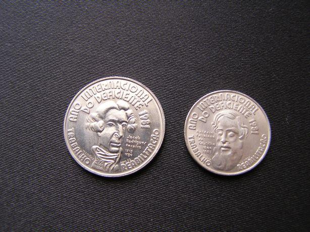moedas comemorativas escudos - várias