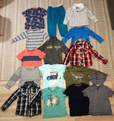 Zestaw paka 16 ubrań + 2 gratis, dla chłopca w rozm. 110-116. Zadbane.