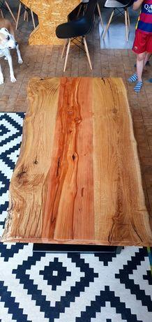 Stolik kawowy dąb klon ręcznie robiony stół loft drewno Producent