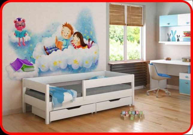 Ліжко дитяче - Польща 140х70 160х80 180х80 180х90 200х90 -Ль