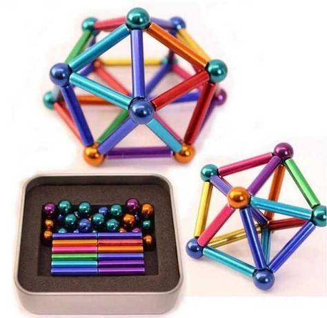 Конструктор магнитный анти-стресс Неокуб Neo Cube разноцветный