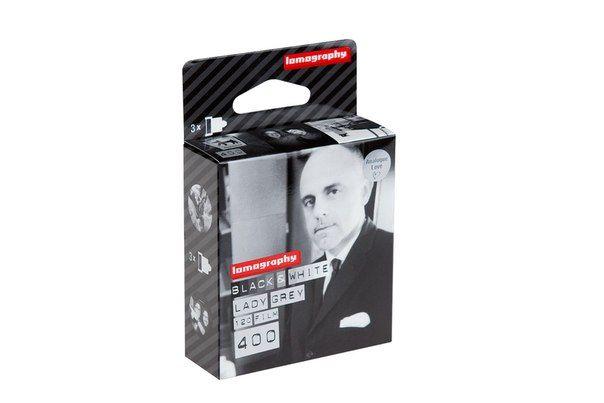 Lomography Lady Grey B&W 400 film черно белая фотопленка тип 120 6х6