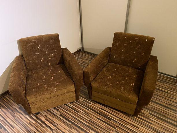 Solidne fotele na kółkach 2 szt