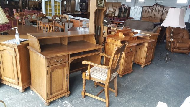 biurko dębowe solidne