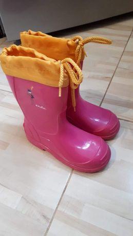 Kalosze rozowe dziewczynka