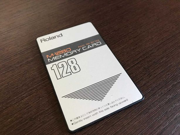 Roland M-128D cartão memória