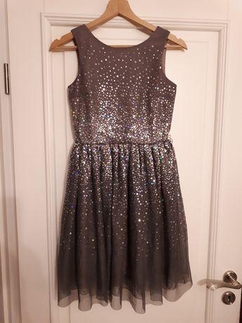 Sukienka cekiny tiul dziewczęca  roz. 152