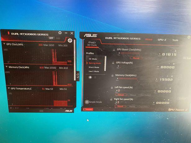 Asus PCI-Ex GeForce RTX 2080 Super Dual EVO 8GB GDDR6 (256bit)
