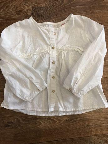 Очень очень легкая красивая рубашка для девочки Zara