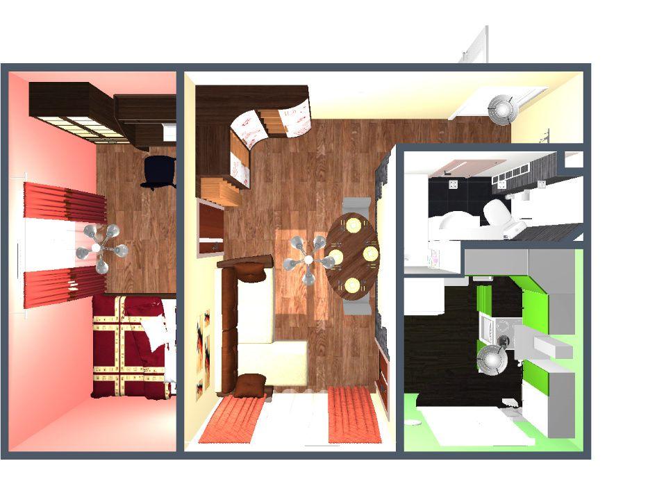 2к квартира хозяин автономное отопление, мебель, техника Западный Днепр - изображение 1