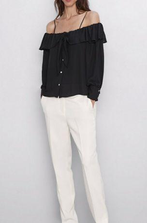 Koszula Zara z odkrytymi ramionami XS raz założona
