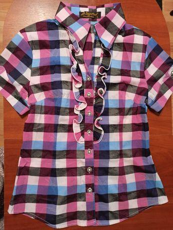 Рубашка с коротким рукавом шведка