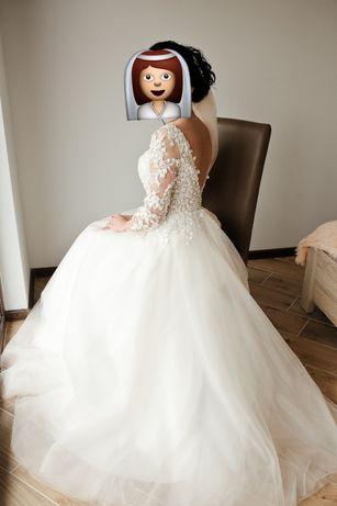 Продам ніжну весільну сукню пудрового кольору
