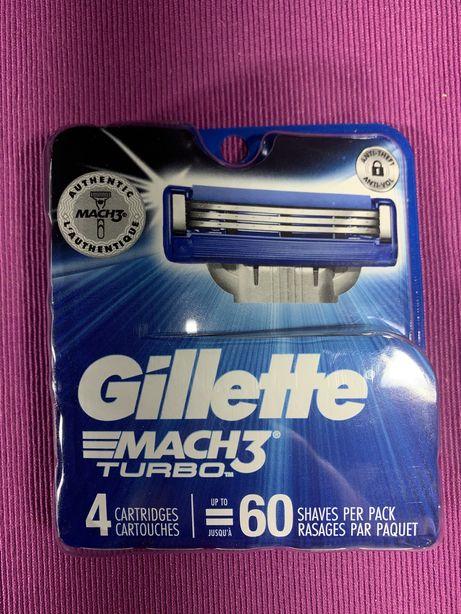 Сменные кассеты Gillette Mach 3 Turbo(4шт, 5шт, 8шт, 12шт)