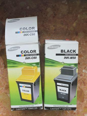 Komplet Nowych tuszy Samsung INK-M50 INK-C60