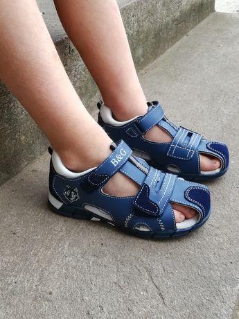 Детские кожаные босоножки, сандали 27р. Тм B&G