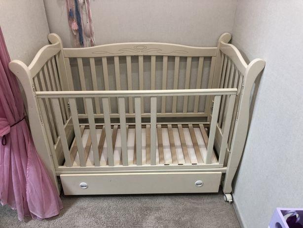 Детская кроватка кровать ліжко верес 120/60 маятник