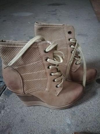 Buty botki na koturnie sneakersy 37 nowe