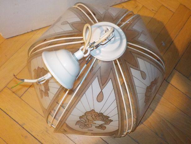 biała lampa super metal szkło vintage idealna na kawalerka mi