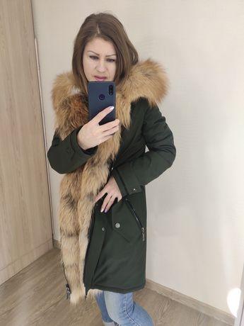 Парка с натуральным мехом лисицы и и лиса frost куртка с мехом