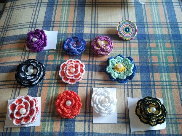 Pregadeiras em crochet novas feitas à mão