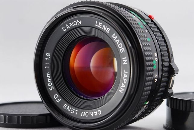 Lente Canon FD 50mm f/1.8 - NOVA