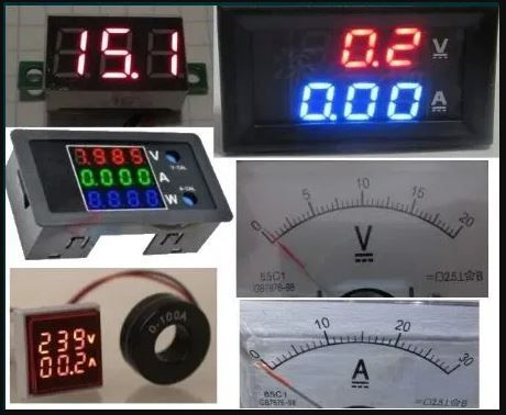 Цифровой dc ac вольтметр амперметр 100 в 10 а 12 220 500 в ваттметр вт