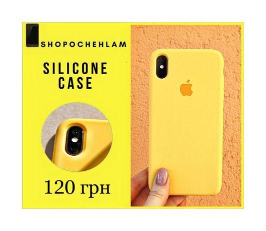 Силиконовый чехол стекло iPhone айфон 6/7/7+/8+/X/Xr/Xs Max/11 pro/12