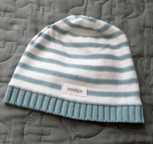 NEWBIE dzianinowa czapka 44/46 4-9 miesięcy