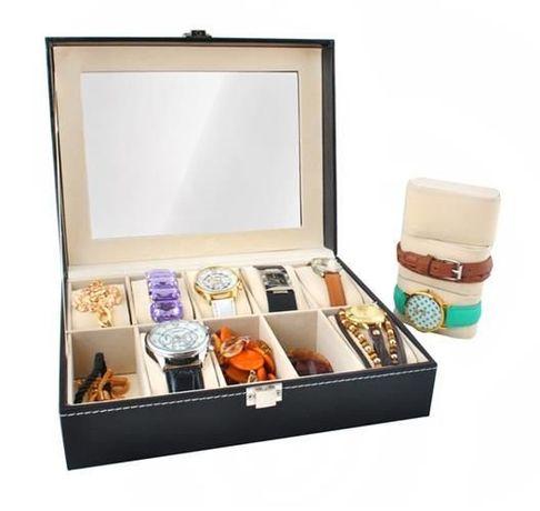 Шкатулка для хранения часов и браслетов 10 отд органайзер бокс коробка