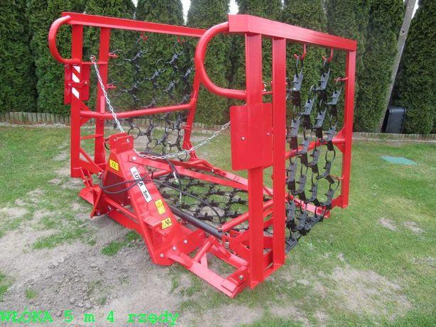 WŁÓKI łąkowo-polowe Włóka 5m, 6m hydrauliczna brona brony Dostawa Raty