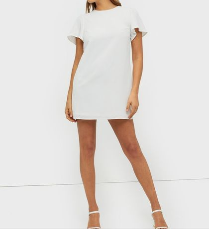 Mini biała letnia sukienka ASOS