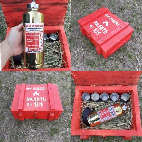 Штоф огнетушитель / вогнегасник набор пожарному спасателю топ подарок