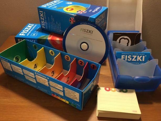 NOWY zestaw FISZEK Matura B1/B2 z płytą CD, MEMOBOX i Etu