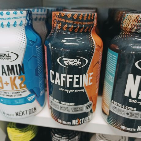 Real Pharm Kofeina 200mg 90tabletek, Odżywki i suplementy diety