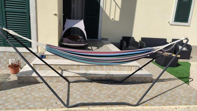 Cama de rede com suporte de chão