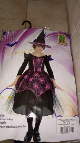 Roupa bruxa 6 a 9 anos