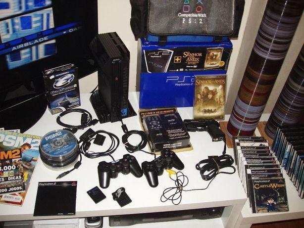 Playstation 2: Com muitos jogos, acessórios e extras