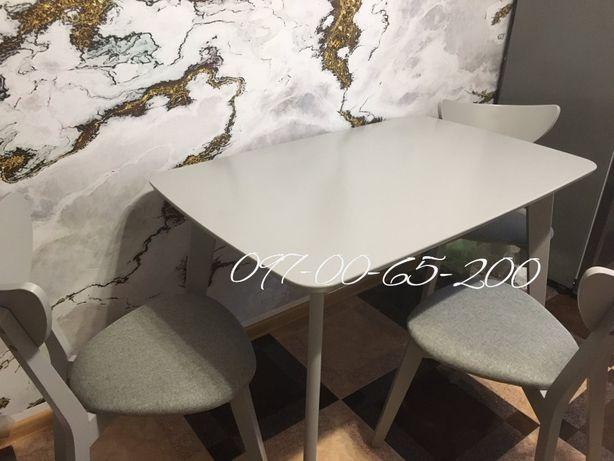 Серый кухонный стол в наличии! со склада Массив БУКА