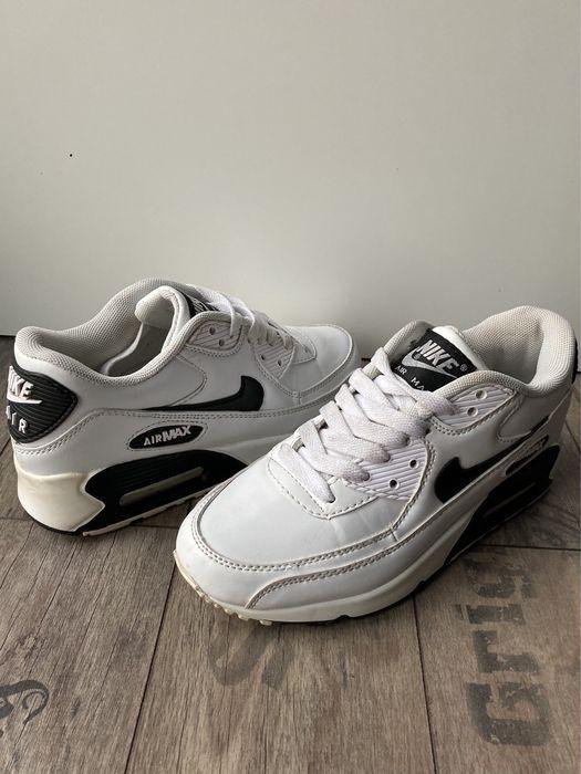 Buty Nike Air Max 90 skórzane białe Size 37,5 Rokietnica - image 1